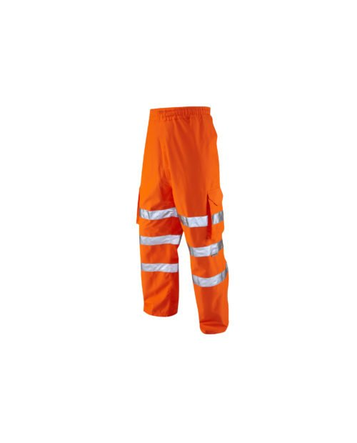 L02 LEO Instow Class 1 Breathable Cargo Style Hi-Vis Overtrouser.