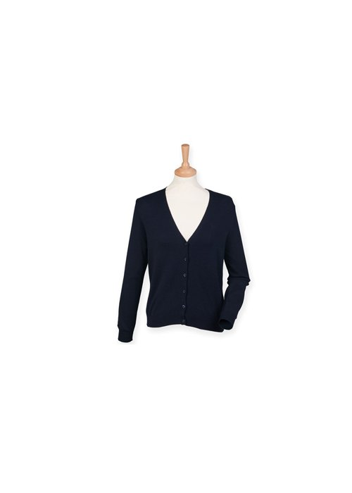 Ladies Henbury V-Neck Cardigan