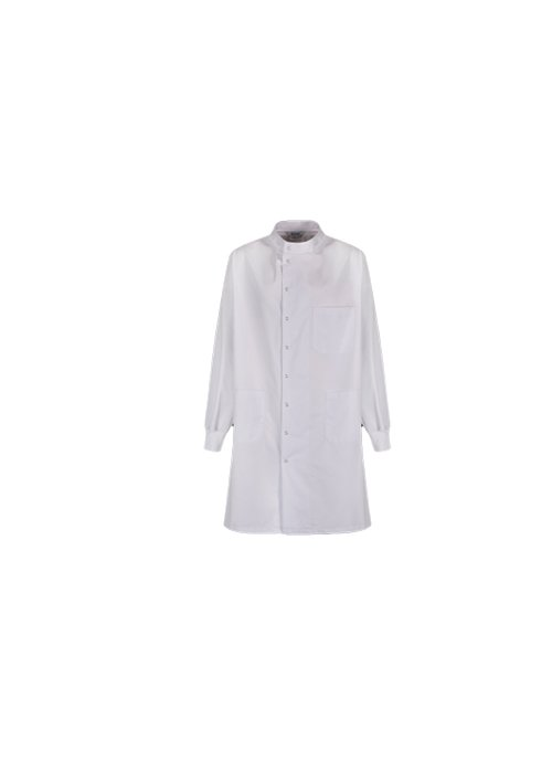 LAB COAT WITH STAND UP COLLAR