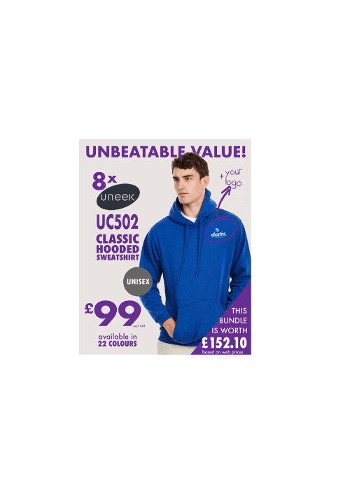 8 HOODIES for £99