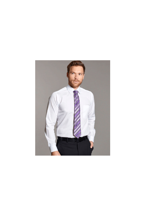 Slim Fit Long Sleeve Cotton Rich Shirt