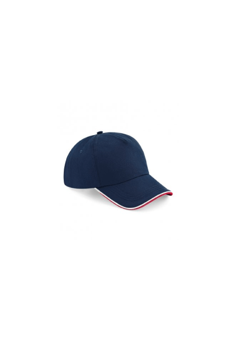 CONTRAST PIPED 5 PANEL BASEBALL HAT