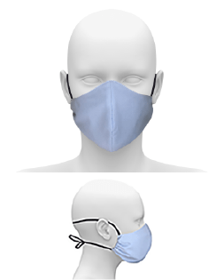 COMMUNITY FACE MASK WITH CORD TIE